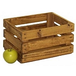 1 Peck Stained Wood Natural Crate