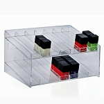 2-tiered 14 Compartment Cosmetic Display