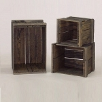Solid Pine Apple Crate - 3ct - Color Choice