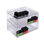 3-tiered 24 Compartment Cosmetic Display
