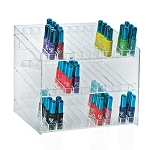 3-tiered 36 Compartment Cosmetic Display