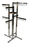 4-Way Handbag Rect Tube Rack - 8 Faceout 5 Hook