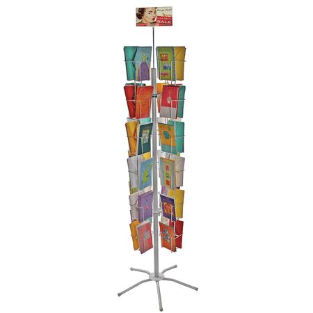 48 Pocket Literature Holder Floor Stand