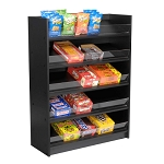 Black 5 Shelf Wood Candy Display