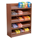 Cherry 5 Shelf Wood Candy Display