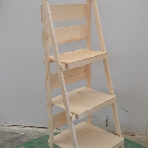 Home > Wood Displays > Shelves & Stands > Foldable Wooden Display Ladder