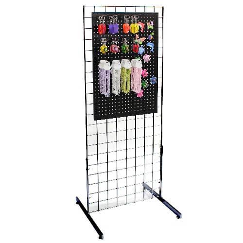 Metal Grid Wall metal pegboard magnet gridwall display | retail floor fixture