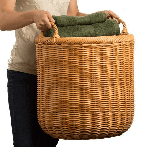 Extra Large Round Wicker Basket Wooden Storage Retail