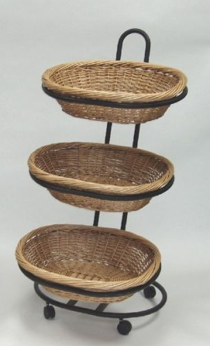 Oval Wicker Display Wicker Floor Display Produce Rack