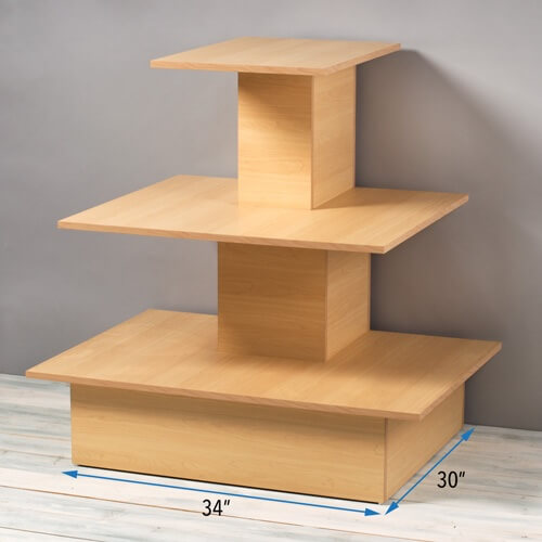 Maple wooden space saving wall table wood display