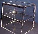 Acrylic 2 Shelf Bakery Cabinet