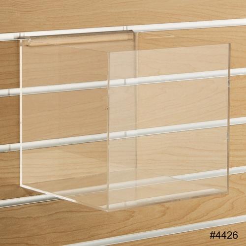 acrylic slatwall cube 8 inch