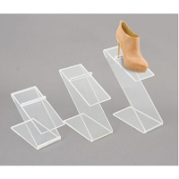 Acrylic Z Bend Shoe Rise - Set of 3