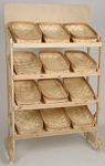 Bakers Baskets Display Rack - Color Choice