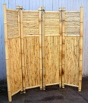 Bamboo Four Panel Screen Divider - 18