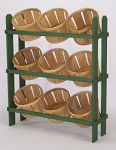Basket Display w/ 9 Baskets - Color Choice
