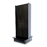 Black 2-Sided Streamline Pegboard Display
