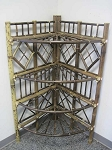 Black Bamboo Corner Stand - Four Tier
