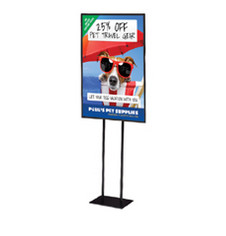 Black Double-Sided POSTER Display