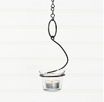17.5in Black Hanging Candle Holder