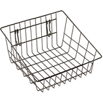 Black Sloped Front Basket - Slatwall Accessory