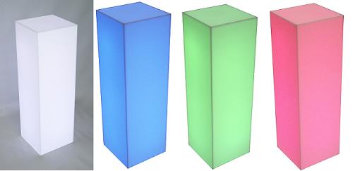 ''Fully Lighted Pedestal - 20'''' - Color Option''