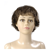 Brown Straight WIG For Boy Mannequin