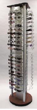 chrome eyewear display rack silver showcase stand vision