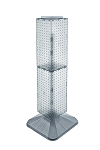 Square Revolving Pegboard Tower