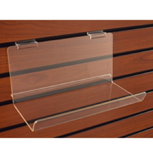 Deep Acrylic Shelf With Lip - 5in D x 23 1/4in W