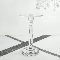 Faceted Glass Cake Stand/Riser 17.5in