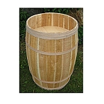 False Bottom Cedar Display Barrel - 18