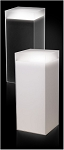 Frosted Acrylic Pedestal with Sleeve and Light - Size Option