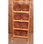 1/2 Peck Baskets Rack - Color Choice