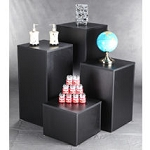 Laminated Wood Display Cubes - 4 Piece Set