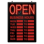 LED Open/Closed Sign with Business Hours