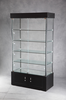 lighted tower display case jewelry display lockable. Black Bedroom Furniture Sets. Home Design Ideas