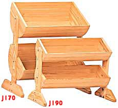 ''Lowboy Barrel Display - Two 24'''' Wide Barrels''