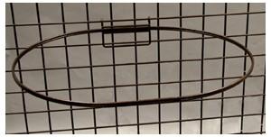 Medium Grid Oval Basket RINGs - 6ct