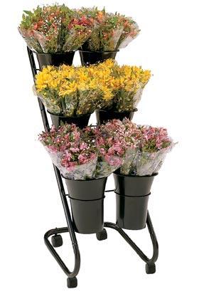 Mobile Flower Display W 10 Designer Vases Floral Displays