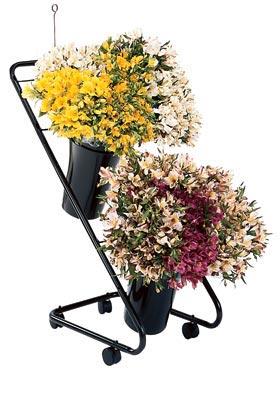 Mobile Flower Display w/16? Designer VASEs
