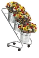 Mobile Flower Display w/Galvanized Buckets