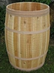 Natural Cedar Whole Barrel - 18in D x 30in H