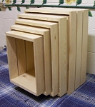 Wood Nesting Crates - 5 Crate Set