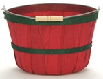 One Peck Apple Baskets Red - 12ct