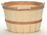 1/2 Peck Natural Basket - 12ct - Color Choice