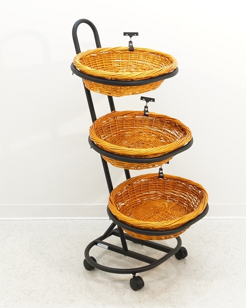 display stands with baskets