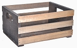 Rectangular Crates with Slot Handles - 4ct