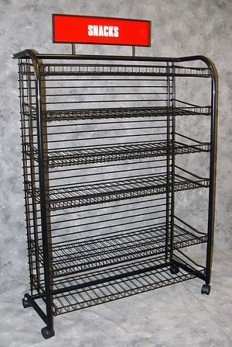 White Candy Snack Rack Snack Rack Retail Display Fixture