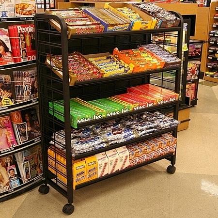Premium Candy Display Rack Retail Rack Mobile Display